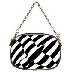 Flaying Bird Black White Chain Purses (two Sides)  by AnjaniArt