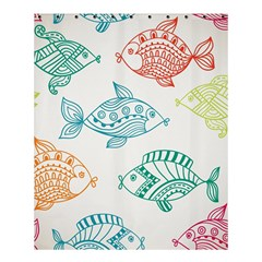 Fish Shower Curtain 60  X 72  (medium)  by AnjaniArt