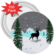 Rocky Mountain High Colorado 3  Buttons (100 Pack)