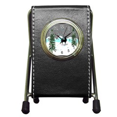 Rocky Mountain High Colorado Pen Holder Desk Clocks