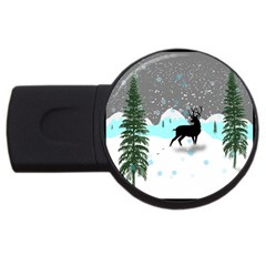 Rocky Mountain High Colorado Usb Flash Drive Round (4 Gb)  by Amaryn4rt