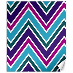 Fetching Chevron White Blue Purple Green Colors Combinations Cream Pink Pretty Peach Gray Glitter Re Canvas 20  X 24   by AnjaniArt