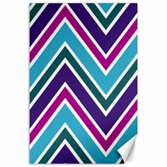 Fetching Chevron White Blue Purple Green Colors Combinations Cream Pink Pretty Peach Gray Glitter Re Canvas 24  X 36  by AnjaniArt