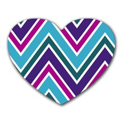 Fetching Chevron White Blue Purple Green Colors Combinations Cream Pink Pretty Peach Gray Glitter Re Heart Mousepads by AnjaniArt