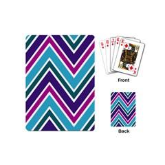 Fetching Chevron White Blue Purple Green Colors Combinations Cream Pink Pretty Peach Gray Glitter Re Playing Cards (mini)  by AnjaniArt