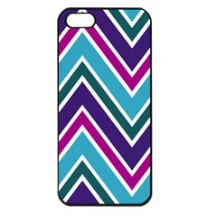 Fetching Chevron White Blue Purple Green Colors Combinations Cream Pink Pretty Peach Gray Glitter Re Apple Iphone 5 Seamless Case (black) by AnjaniArt