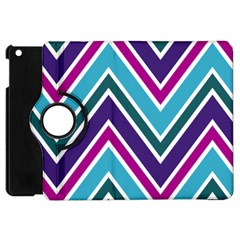 Fetching Chevron White Blue Purple Green Colors Combinations Cream Pink Pretty Peach Gray Glitter Re Apple Ipad Mini Flip 360 Case by AnjaniArt