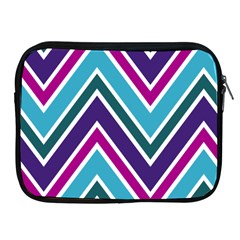 Fetching Chevron White Blue Purple Green Colors Combinations Cream Pink Pretty Peach Gray Glitter Re Apple Ipad 2/3/4 Zipper Cases by AnjaniArt