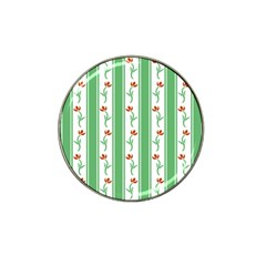 Flower Background Green Hat Clip Ball Marker (10 Pack) by AnjaniArt