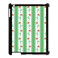 Flower Background Green Apple Ipad 3/4 Case (black) by AnjaniArt