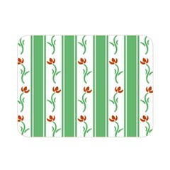 Flower Background Green Double Sided Flano Blanket (mini)  by AnjaniArt