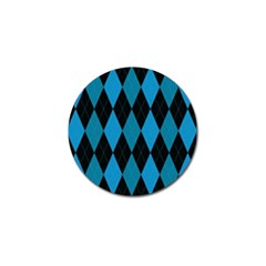 Fabric Background Golf Ball Marker (4 Pack)