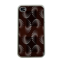 Free Dot Spiral Seamless Apple Iphone 4 Case (clear) by AnjaniArt