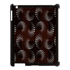 Free Dot Spiral Seamless Apple Ipad 3/4 Case (black) by AnjaniArt