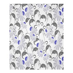 Flourishy Floral Flower Purple Shower Curtain 60  X 72  (medium)  by AnjaniArt