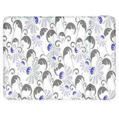 Flourishy Floral Flower Purple Samsung Galaxy Tab 7  P1000 Flip Case by AnjaniArt