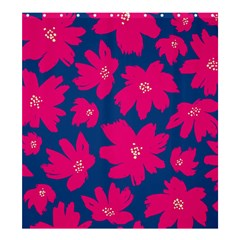Flower Red Blue Shower Curtain 66  X 72  (large)  by AnjaniArt