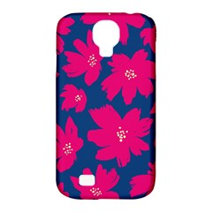 Flower Red Blue Samsung Galaxy S4 Classic Hardshell Case (pc+silicone) by AnjaniArt