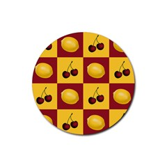 Fruit Pattern Rubber Coaster (round)  by AnjaniArt