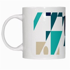 Geometric White Mugs