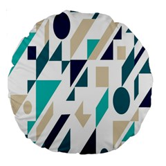 Geometric Large 18  Premium Round Cushions by AnjaniArt