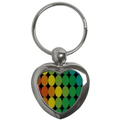 Geometry Round Colorful Key Chains (heart)  by AnjaniArt