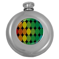 Geometry Round Colorful Round Hip Flask (5 Oz) by AnjaniArt