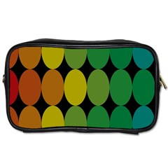 Geometry Round Colorful Toiletries Bags 2 Side by AnjaniArt