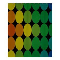 Geometry Round Colorful Shower Curtain 60  X 72  (medium)  by AnjaniArt