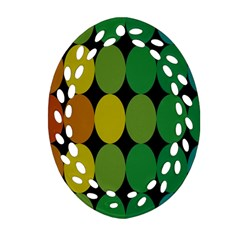 Geometry Round Colorful Ornament (oval Filigree)
