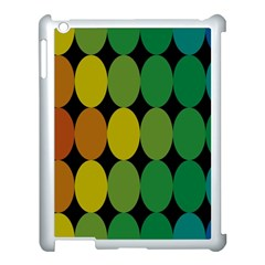 Geometry Round Colorful Apple Ipad 3/4 Case (white) by AnjaniArt