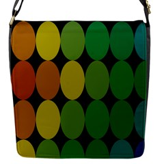 Geometry Round Colorful Flap Messenger Bag (s) by AnjaniArt