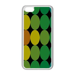 Geometry Round Colorful Apple Iphone 5c Seamless Case (white) by AnjaniArt