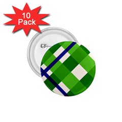 Green Plaid 1 75  Buttons (10 Pack) by AnjaniArt
