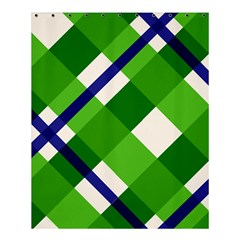 Green Plaid Shower Curtain 60  X 72  (medium)