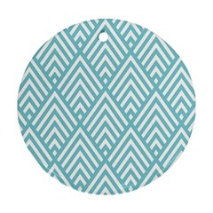 Geometric Blue Ornament (round)