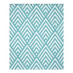 Geometric Blue Shower Curtain 60  X 72  (medium)  by AnjaniArt