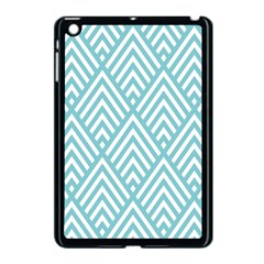Geometric Blue Apple Ipad Mini Case (black) by AnjaniArt