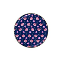 Flower Tulip Floral Pink Blue Hat Clip Ball Marker by AnjaniArt
