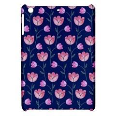 Flower Tulip Floral Pink Blue Apple Ipad Mini Hardshell Case