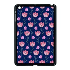 Flower Tulip Floral Pink Blue Apple Ipad Mini Case (black) by AnjaniArt