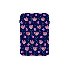 Flower Tulip Floral Pink Blue Apple Ipad Mini Protective Soft Cases by AnjaniArt