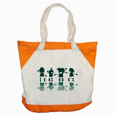 Happy Kids Accent Tote Bag by AnjaniArt