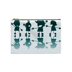 Happy Kids Cosmetic Bag (medium)  by AnjaniArt