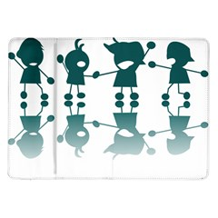 Happy Kids Samsung Galaxy Tab 10 1  P7500 Flip Case by AnjaniArt
