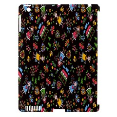 Happy Family Flower Home Sweet Bee Apple Ipad 3/4 Hardshell Case (compatible With Smart Cover) by AnjaniArt