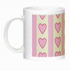 Heart Pink Valentine Day Night Luminous Mugs by AnjaniArt