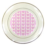 Heart Pink Valentine Day Porcelain Plates Front