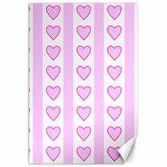 Heart Pink Valentine Day Canvas 20  X 30   by AnjaniArt