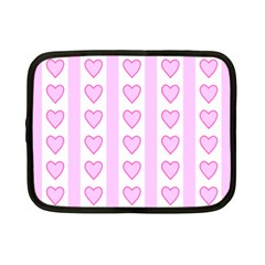 Heart Pink Valentine Day Netbook Case (small)  by AnjaniArt